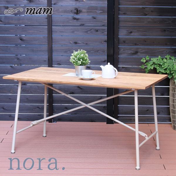 ダイニングテーブル nora. mamシリーズ テーブル【マム メイス 130テーブル BKNA/WHNA】カントリー調 カントリースタイル かわいい/おしゃれ