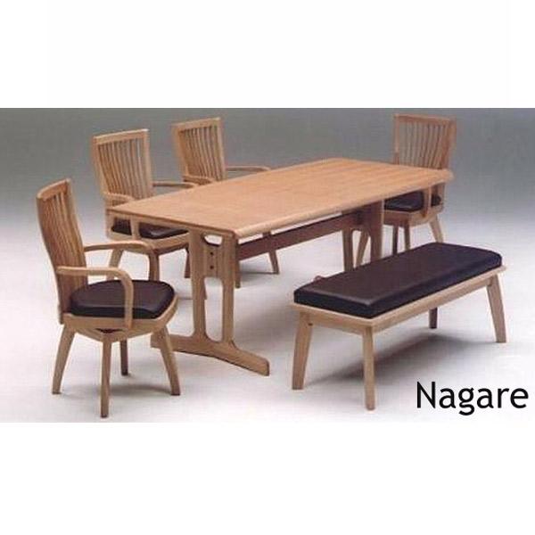 ダイニング6点セット【Nagare ナガレ】ダイニングテーブルセット 食卓セット キッチンセット 180テーブル チェア4脚 ベンチ 高級感 モダン おしゃれ
