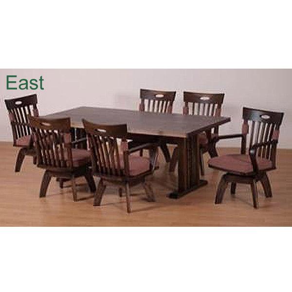 ダイニング7点セット【East イースト】ダイニングテーブルセット 食卓セット キッチンセット RY605 180テーブル チェア6脚 アンティーク塗装 おしゃれ