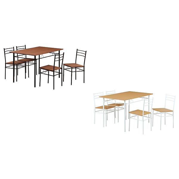 ダイニングテーブルセット【EVANS(エバンス)】DSP-1275(BR)(NA) ダイニング5点セット 食卓テーブルセット 食卓セット