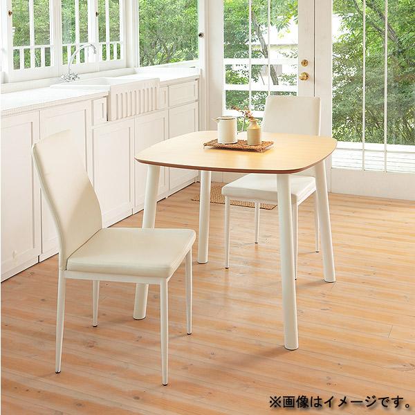ダイニング3点セット【 BERRY ベリー テーブル 80+CHESS チェス チェア ホワイト×2 】