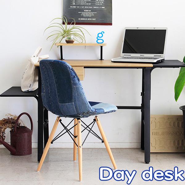 デスク【Day(デイ) デスク】 引出し付北欧風デスク 伸長式デスク 木製オーク材 カジュアル おしゃれ シンプルモダン Day desk デイデスク【代引不可】