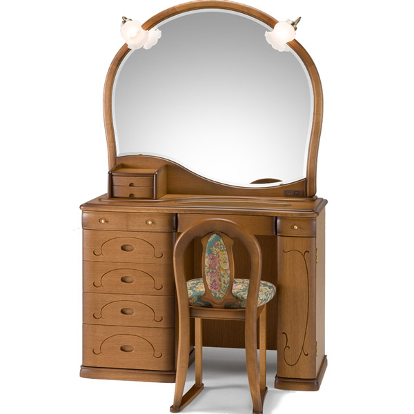 ドレッサー 【12一面 グランビア ナラ】 一面鏡 鏡台 デザイナーズドレッサー 【送料無料】