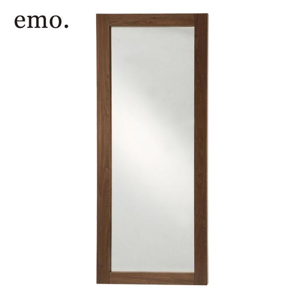 【emo】エモ ミラー 姿見 EMM-2181BR 鏡 大型ミラー 全身 おしゃれ ミッドセンチュリー調 天然木 木製 ウォールナット ブラウン アンティーク風 シンプル モダン 北欧風 北欧テイスト