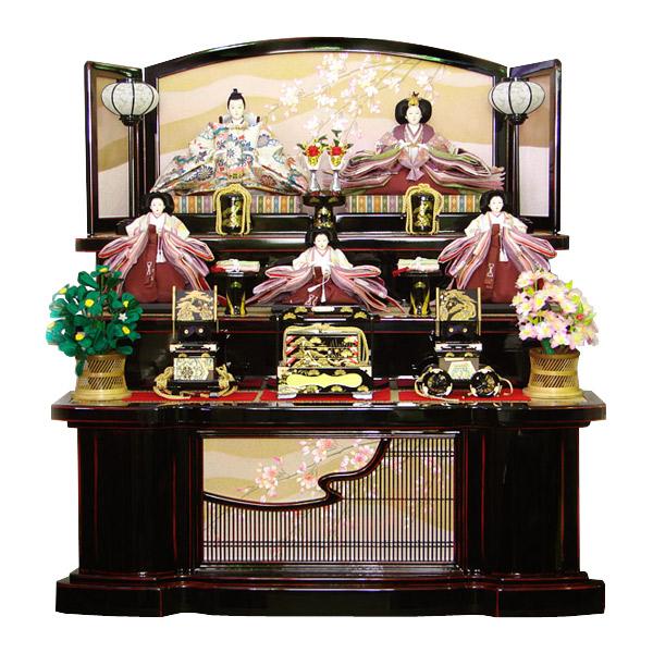 展示現品 雛人形 ひな人形 【851】 【桜祇園】 衣裳着人形 桃の節句/ひな祭り/お雛様