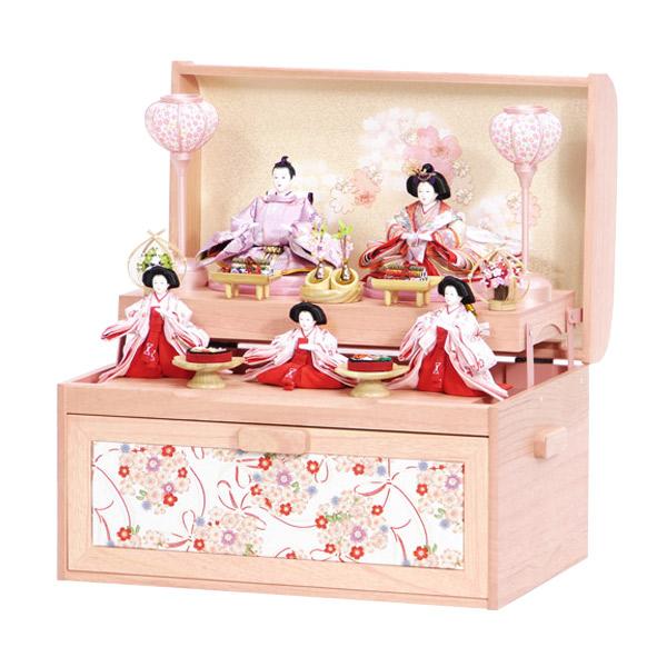 展示現品 雛人形 ひな人形 【9-41】 【42A-59 宝箱】 衣裳着人形 桃の節句/ひな祭り/お雛様
