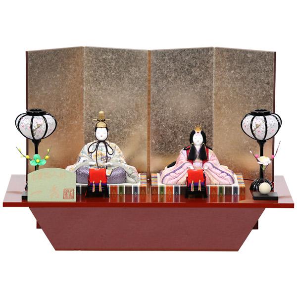 雛人形 一秀 ひな人形 木目込み 平飾り モダン 親王飾り 【372S71】 【No.8】 木目込み人形 雛 おひなさま/ひなまつり/かわいい/おしゃれ/初節句/お祝い/女の子/桃の節句/ひな祭り/お雛様/数量限定