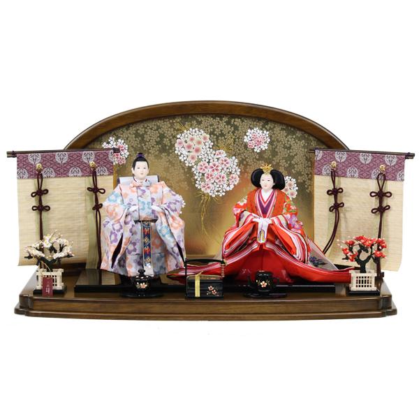 雛人形 おしゃれ ひな人形 雛 衣裳着 立雛飾り 立ち雛 親王飾り 衣裳着人形 【オリジナル雛人形】【RO840S91】 数量限定 かわいい 可愛い 桃の節句 ひな祭り お雛様 おひなさま