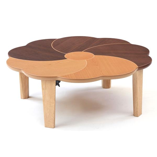 座卓テーブル おしゃれ ローテーブル リビングテーブル (F花音(かのん) テーブル 100)