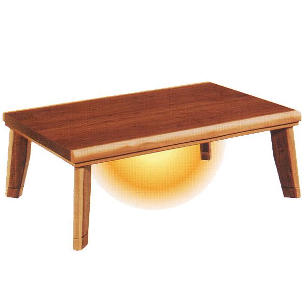 こたつ 長方形 国産 家具調コタツ 継脚付き 【ニュー皮付き ウォールナット】 150サイズ リビングテーブルとしてもお使い頂けます。