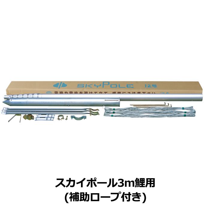スカイポール 掲揚器具徳永鯉のぼり 3m鯉用 6号(5.67m) こいのぼり