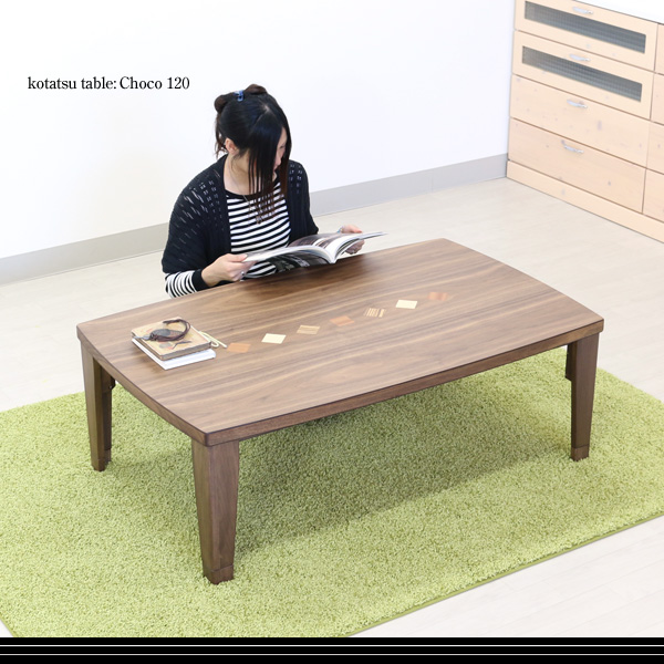 【数量限定】 こたつ 長方形 【M-014 チョコ120 120サイズ】 かわいい おしゃれな テーブル こたつ 本体 継ぎ足 高さ調節 継ぎ足し コタツ 炬燵 継脚付き