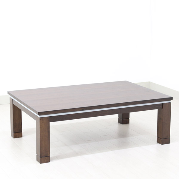 こたつテーブル 長方形 テーブル 家具調こたつ 120×80 おしゃれな カジュアル 継脚 継ぎ足 こたつ本体 高さ調節 (フラン 120) 在庫1本限り