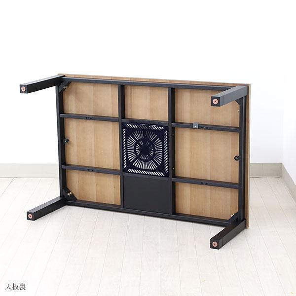 こたつテーブル 長方形 家具調こたつ 古木風 ヴィンテージ 男前 リビングテーブル パイン材 おしゃれ こたつ本体 モダン 120×80 継脚 高さ調節 継ぎ足 継足 ゼブラ 120