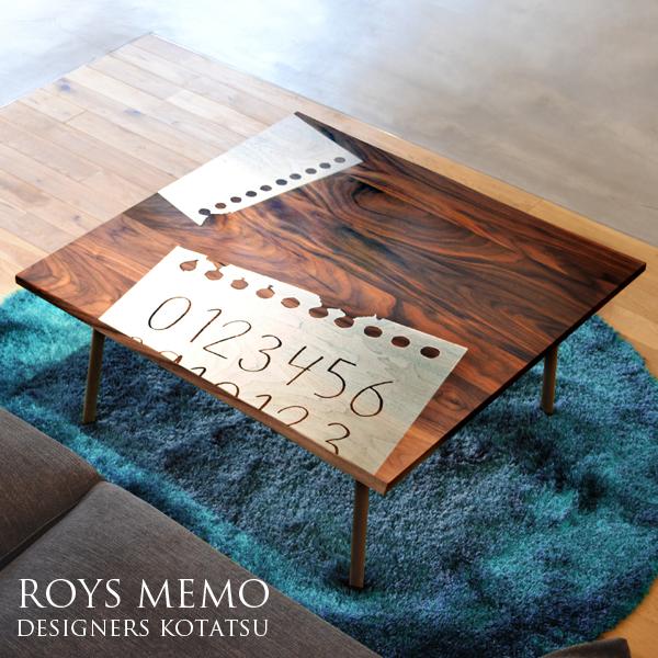 3/4 20時~ポイントアップ&限定クーポン配布中!こたつテーブル 正方形 テーブル こたつ本体 天然木 おしゃれ 木製 ウォールナット無垢材使用 家具調こたつ 高級感 リビングテーブル モダン デザインこたつ 国産 Takatatsu & Co. Roys Memo ロイズ メモ 85サイズ