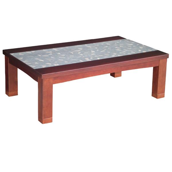【エントリーでP10倍★クーポン配布中】こたつテーブル 長方形 家具調こたつ こたつ本体 継脚付き 高さ調節 継ぎ足 継足 リビングテーブル (はやと 120)