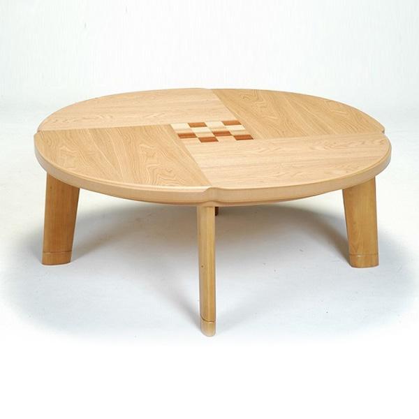 こたつ 円形 こたつテーブル こたつ本体 おしゃれ (フローラル 100)