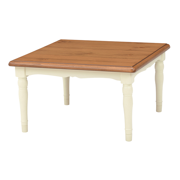 こたつテーブル 正方形 テーブル 家具調こたつ おしゃれ こたつ本体 かわいい パイン材 リビングテーブル 継脚付き 高さ調節 リビングこたつ 継ぎ足 継足 カントリー調 CHAMBLE シャンブル 75 数量限定 コタツ 炬燵 オールシーズン