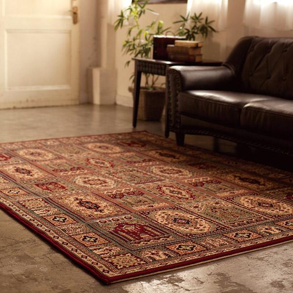 正方形 カーペット 絨毯 【ROYALKHAN ロイヤルカーン】 ラグ/カーペット 約200×200cm ベルギー製 【送料無料】
