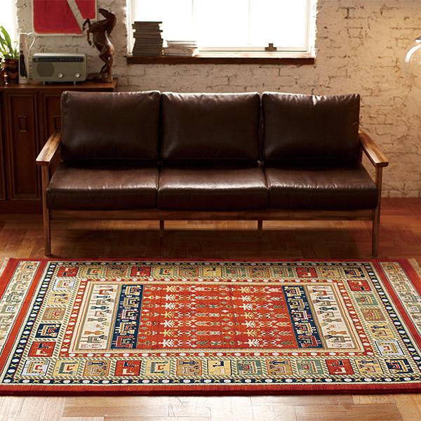 長方形 カーペット 絨毯 【ANTIQUE アンティーク】 ラグ/カーペット 約70×120cm イラン製 【送料無料】