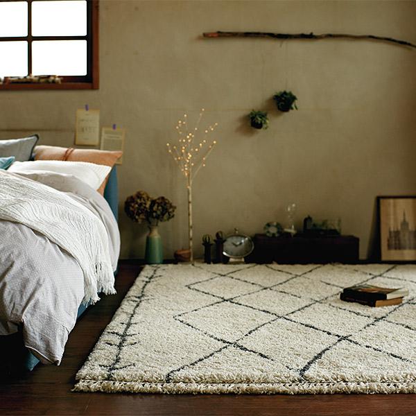 長方形 カーペット 絨毯 【CASABLANCA カサブランカ】 ラグ/カーペット 約135×190cm ベルギー製 【送料無料】