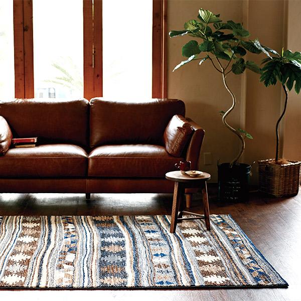 長方形 カーペット 絨毯 【RAMSES ラムセス】 ラグ/カーペット 約133×190cm エジプト製