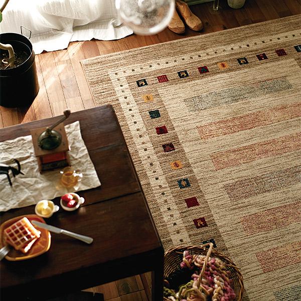 長方形 カーペット 絨毯 【KASHQAI カシュガイ】 ラグ/カーペット 約200×250cm モンゴル製 【送料無料】