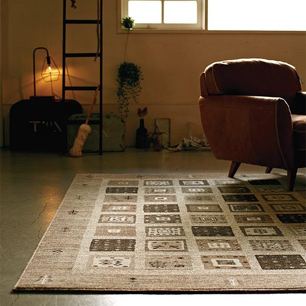 長方形 カーペット 絨毯 【CARAVAN キャラバン】 ラグ/カーペット 約70×120cm モンゴル製 【送料無料】