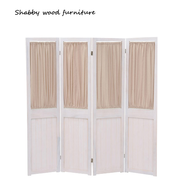 【お得なクーポン配布中★】パーテーション【MS-5414AW】Shally SHABBY WOOD FURNITURE 4連 スクリーン ついたて 間仕切り 衝立