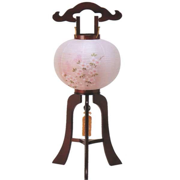 盆提灯 回転式行灯 (桜花9号回転) 木製 お盆 お盆ちょうちん お盆用品 お盆用 新盆提灯 初盆提灯 天然木