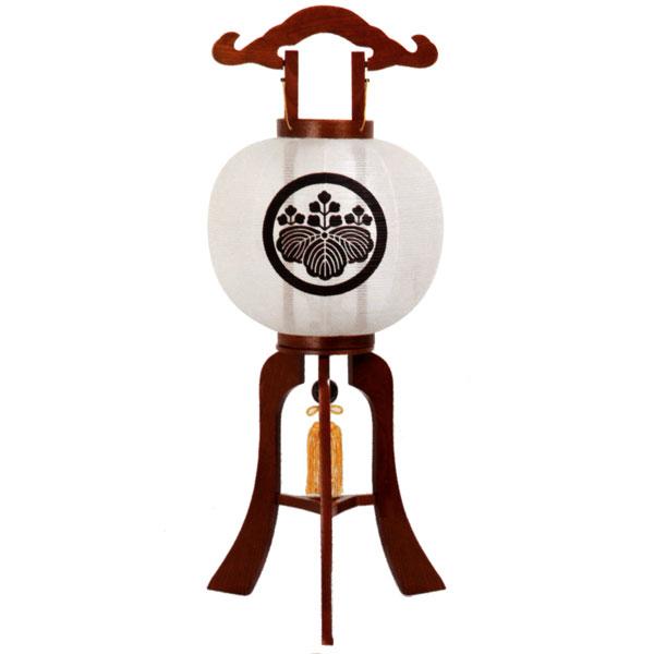 (家紋入れ込) 盆提灯 紋入り提灯 (光琳行灯) お盆 お盆ちょうちん お盆用品 お盆用 電気コード式 新盆提灯 初盆提灯 天然木