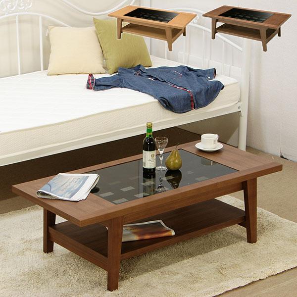 センターテーブル ガラステーブル ローテーブル リビングテーブル 木製 モダン おしゃれ 高級感 北欧 table 【エリック 120テーブル】
