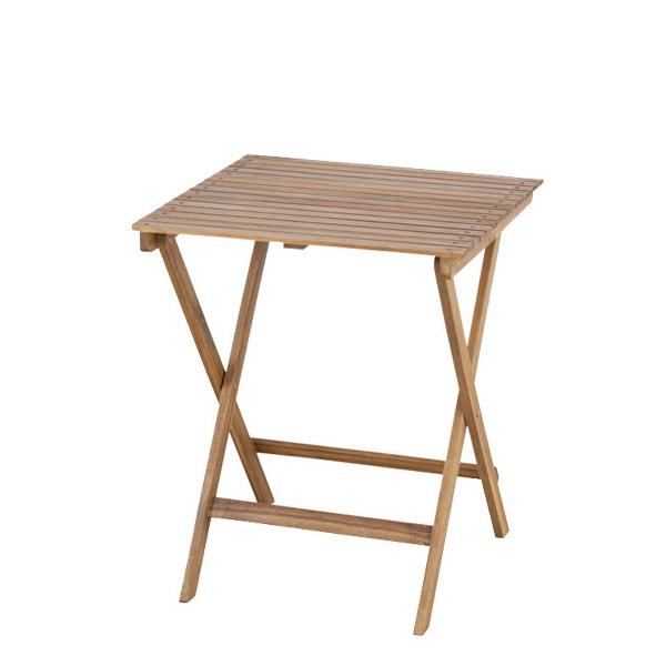 【バロン】 209-XN 折りたたみテーブル ガーデン コンパクト パラソル使用可能 オイル仕上げ 美しい木目のアカシア材を使用