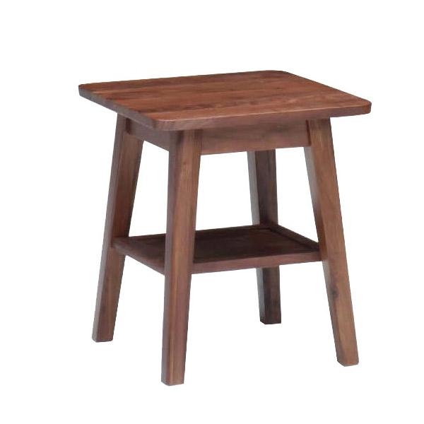 【お得なクーポン配布中★】サイドテーブル ソファーテーブル ウォールナット無垢材 (ブルーノ 45サイドテーブルH50) 木製 おしゃれ bruno walnut