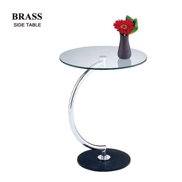 サイドテーブル 【LLT-8514(クリアガラス)】 ガラステーブル クリアガラス BRASS【送料無料】