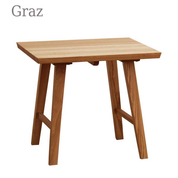 【お得なクーポン配布中★】テーブル【Graz グラーツ コーナーテーブル】タモ材 NA/BR 幅60【送料無料】