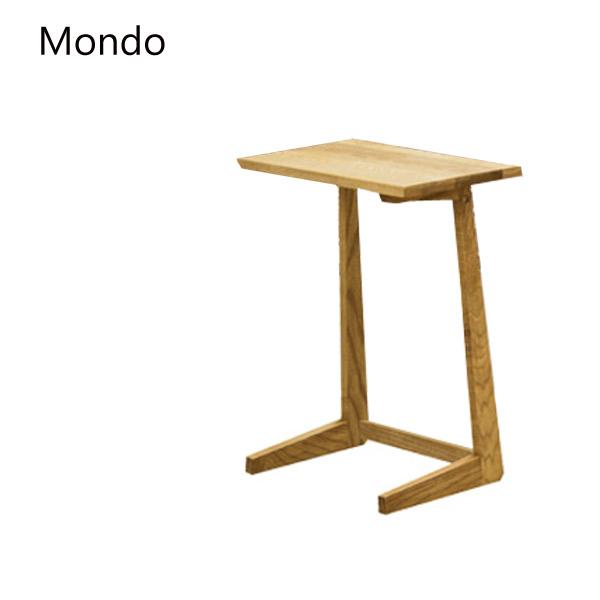 テーブル【Mondo モンド サイドテーブル】タモ無垢材 幅45