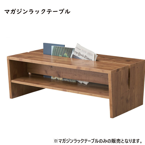 マガジンラック テーブル【LE-300NA】収納付テーブル ローテーブル リビングテーブル コーヒーテーブル