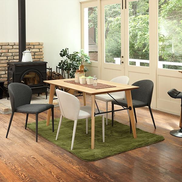 ダイニング5点セット アンテ135テーブル + コスタチェア×4 おしゃれ 北欧風 シック 木質 高級感 4人掛け
