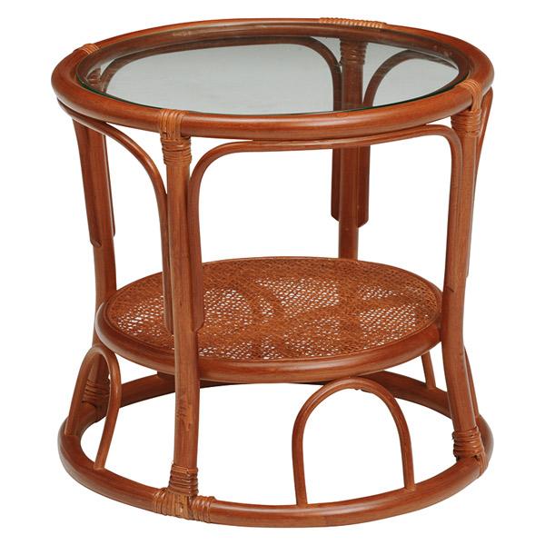 ラタンテーブル【RT-480BR】テーブル 籐テーブル サイドテーブル ナイトテーブル