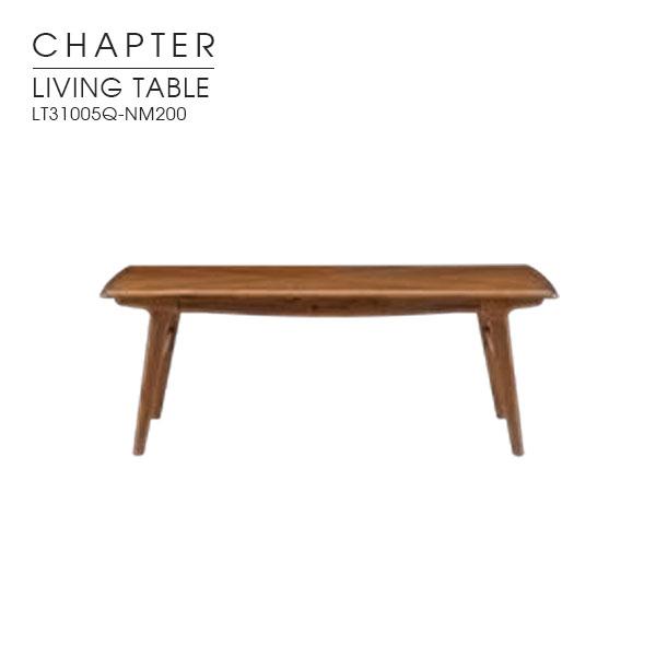 【CHAPTER チャプター】リビングテーブル センターテーブル ローテーブル 木製 ウォールナット アカシア 110cm幅 オイル塗装 英国調 ブリティッシュビンテージ ナチュラル クラシカル モダン LT31005Q-NM200