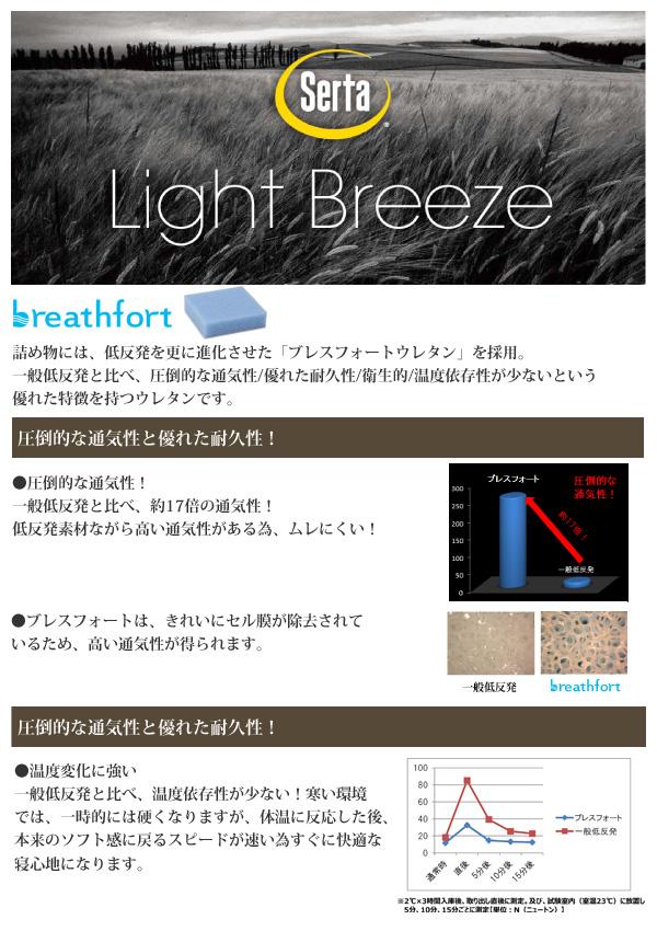 サータ マットレス serta セミダブル ライトブリーズ 72 BOX-T 5.8