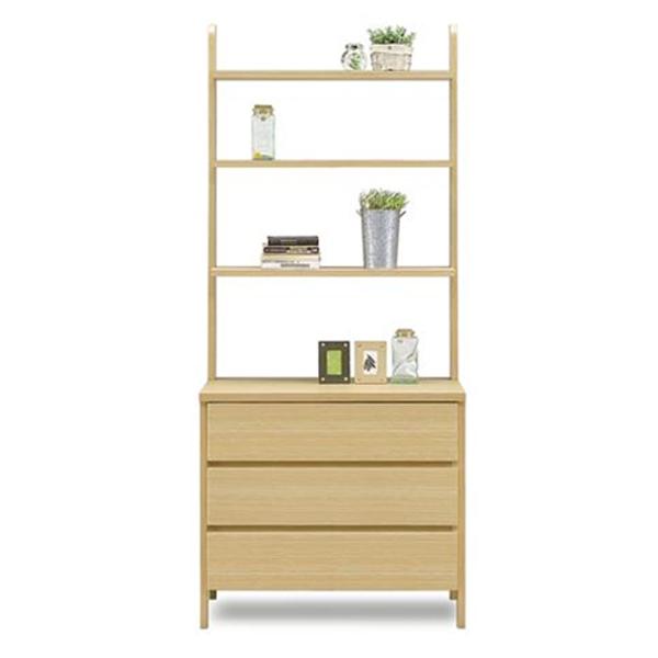 シェルフ 木製 キャビネット サイドボード おしゃれ 日本製 棚 収納棚 壁面 モダン リビング (ジョイ 77引出しシェルフ NA)