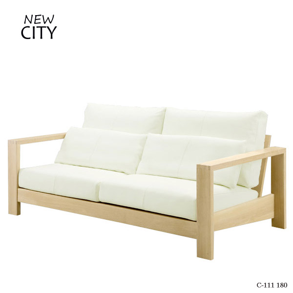 ソファー CITYシリーズ 【C-111 180 ソファ WH】 Cityシリーズ/シティ/シティーシリーズ/幅180/モダン/高級/シック【送料無料】