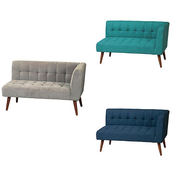 2人掛けソファ【KTL(ケティル)】KTL-ASL(GR)(EBL)(NV) アームソファ(左肘) 高さ調節可能 木製 椅子 玄関 北欧