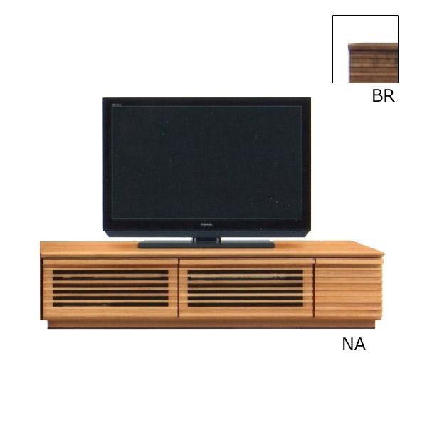 テレビ台 AV機器収納 【クレンソン】 幅150TVボード 引出し 箱組み スライドレール付 木製 リビング 2色対応 BR NA 収納家具 【送料無料】