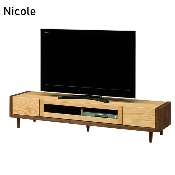 TVボード 【二コル 180 TVボード Nicole】テレビボード/テレビ台/幅180/ローボード/リビング収納/国産/日本製【送料無料】