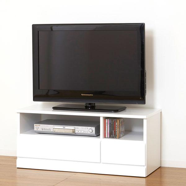 【お得なクーポン配布中★】テレビボード【シャイン TV台】(23700)TVボード 引出付 収納 ホワイト 白 シンプル