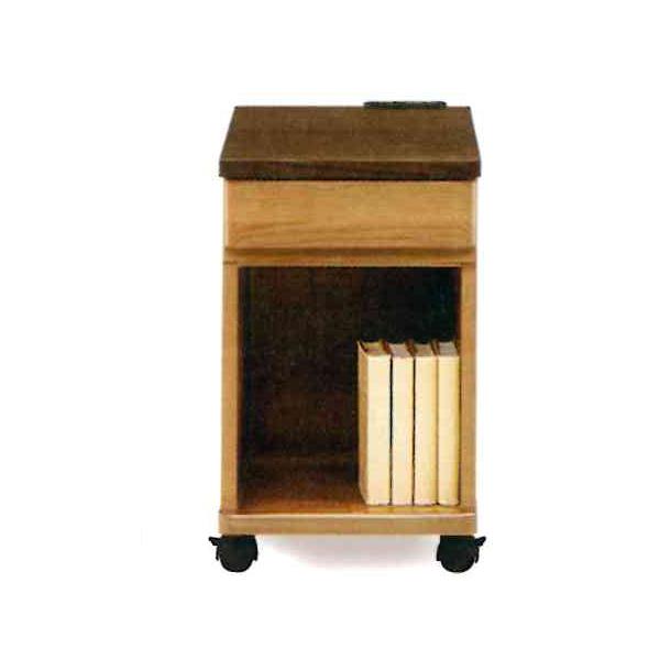 ナイトテーブル コンセント付 ベッドサイドテーブル ナイトチェスト 木製 収納家具 寝室 (TAKE テイク 301 ナイトテーブル)