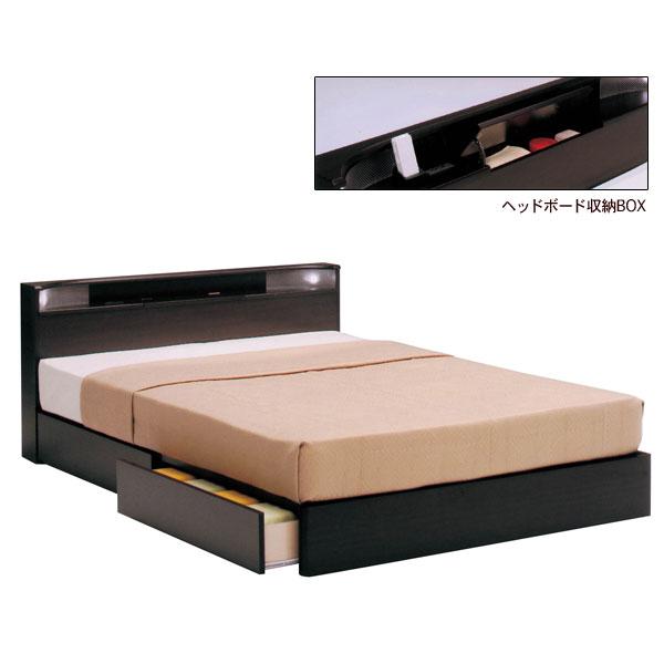 収納BOX 小宮付き 収納付き 引出し セミダブルベッド 【レジデンス BOXタイプ SDサイズ】 ベッドフレームのみ ベーシックタイプ bed 【送料無料】